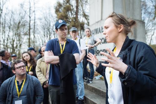 Ola prepares the group for Zbylitowska Gura