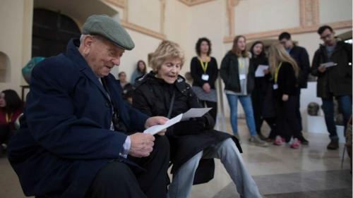 Arek Hersh in the Synagogue in Zamosc